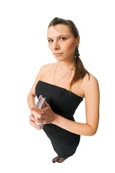 Free Beautiful Woman With Money Stock Image - 10278511