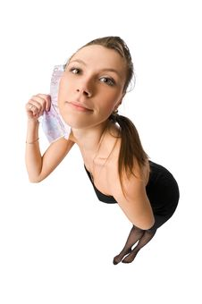 Free Beautiful Woman With Money Royalty Free Stock Images - 10278519