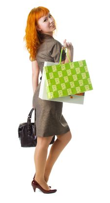 Free Woman Holding A Bag Royalty Free Stock Photo - 10278965