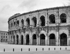 Free Black And White View Of Nimes Arena Royalty Free Stock Photos - 10279368