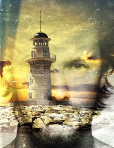 Free Tower, Water, Lighthouse, Reflection Royalty Free Stock Image - 102707826