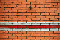 Free Orange Brick Wall Stock Image - 10281131