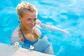 Free Blonde Girl Relaxing In Hotel Pool Stock Photos - 10288543