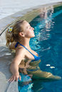Free Blonde Girl Relaxing In Hotel Pool Royalty Free Stock Photo - 10288565