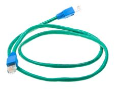 Free Green Ethernet Pach Cord Isolated On White Stock Photography - 10280602