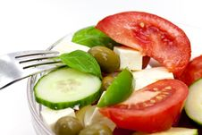 Free Mixed Fresh Salad With Tomatoes Stock Photos - 10282063