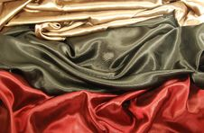 Free Black Red And Gold Satin Royalty Free Stock Image - 10282666
