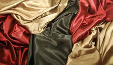 Free Black Red And Gold Satin Royalty Free Stock Image - 10282686