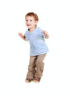 Free Happy Young Boy Jumping Stock Image - 10283721
