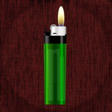 Free Realistic Green Lighter Royalty Free Stock Image - 10283946