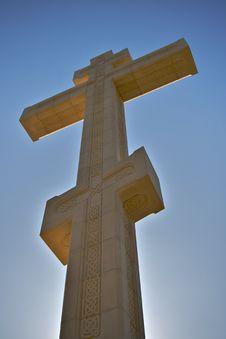 Cross In The Sky Stock Photo