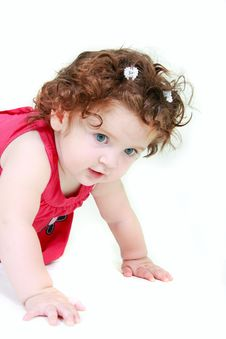 Free Cute Toddler Over White Stock Image - 10284041