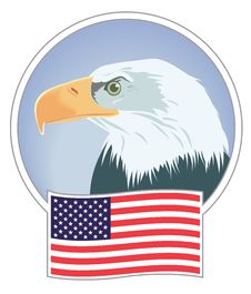 Bald Eagle And Banner Royalty Free Stock Photography