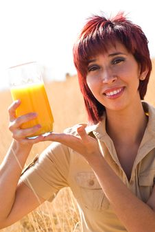 Free WOMAN DRINKS VITAMIN C Stock Photography - 10284672