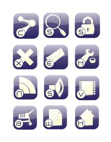 Internet Icons Set Stock Photo