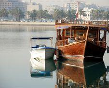 Docked Boats Qatar Royalty Free Stock Image