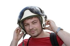 Free Man With Headset Royalty Free Stock Photography - 10286887