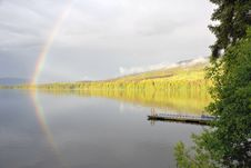 Free Rainbow And Lake Stock Photography - 10286962