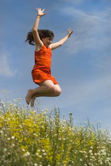 Free Jumping Girl Royalty Free Stock Image - 10287326