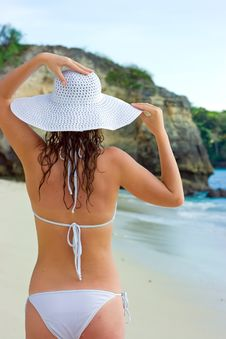 Free Brunette In White Hat Royalty Free Stock Photo - 10288485