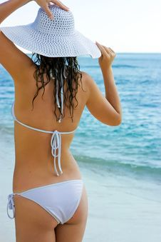 Free Brunette In White Hat Royalty Free Stock Photos - 10288488