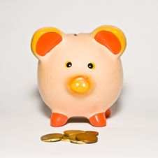 Free Piggy Bank Style Money Box Isolated On A White Bac Stock Photography - 10288652