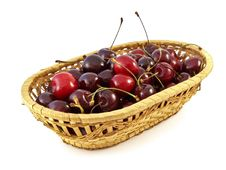 Free Basket With Cherries Stock Photos - 10289923