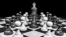 Free Games, Chess, Indoor Games And Sports, Black And White Royalty Free Stock Image - 102877586