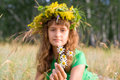 Free A Young Girl Lies On A Meadow Stock Photography - 10290462