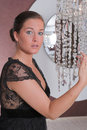 Free Young Attractive Woman Posing In Front Of A Mirror Royalty Free Stock Photo - 10291295