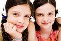 Free Smiling Girls Listening Music On Headphones Royalty Free Stock Photos - 10293938