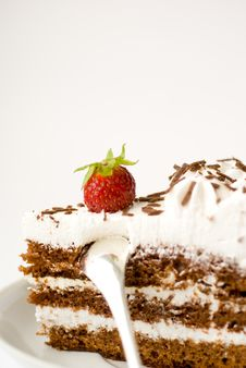 Free Cake On Plate Stock Images - 10290534