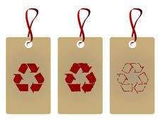 Free Recycle Tags Royalty Free Stock Image - 10291356