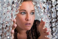 Free Young Attractive Woman Portrait With Glitter Royalty Free Stock Image - 10291436