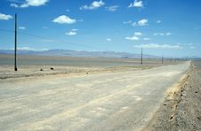 Road In The Atacama Desert Stock Image