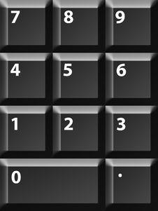 Free Numbers Keyboard Stock Photos - 10292223