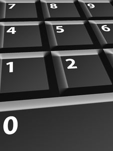 Free Numbers Keyboard Royalty Free Stock Photos - 10292228
