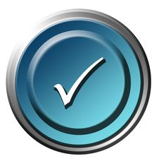 Free Blue Button Royalty Free Stock Image - 10292306