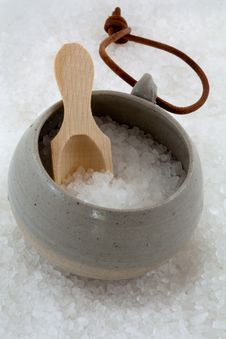 Pottery And Salt Royalty Free Stock Photo