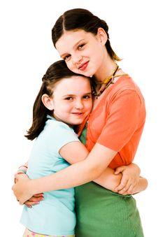 Free Happy Girls Hugging Royalty Free Stock Photo - 10294125
