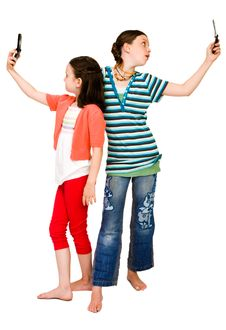 Free Two Girls Photo Messaging Royalty Free Stock Photos - 10294218
