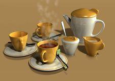 Free Tea Set Royalty Free Stock Image - 10294386