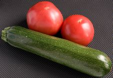 Tomatoes And Zucchini Stock Photography