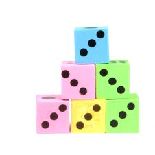 Stack Of Colorful Dices Royalty Free Stock Photography