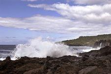 Volcanic Coastline In  Azores Royalty Free Stock Photo
