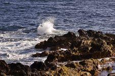 Volcanic Coastline In  Azores Stock Images