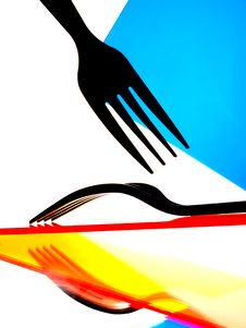 Free Fork And Reflections Abstract Background Royalty Free Stock Photo - 10296085