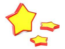 Three Stars Royalty Free Stock Images
