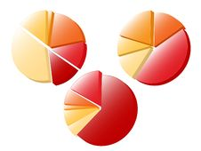 Pie Charts Stock Photos