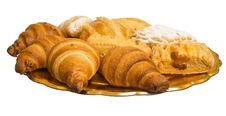 The Plate With Croissants Stock Photo